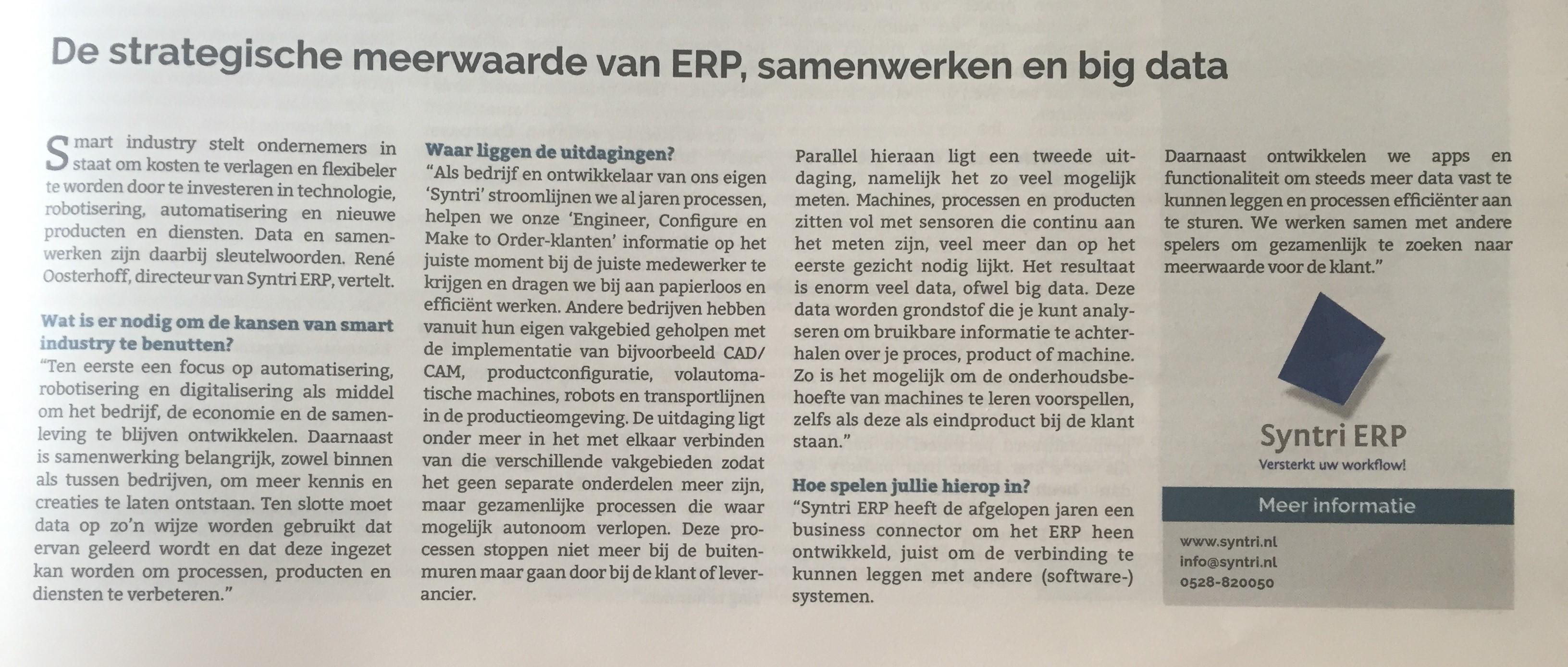 De strategische meerwaarde van ERP