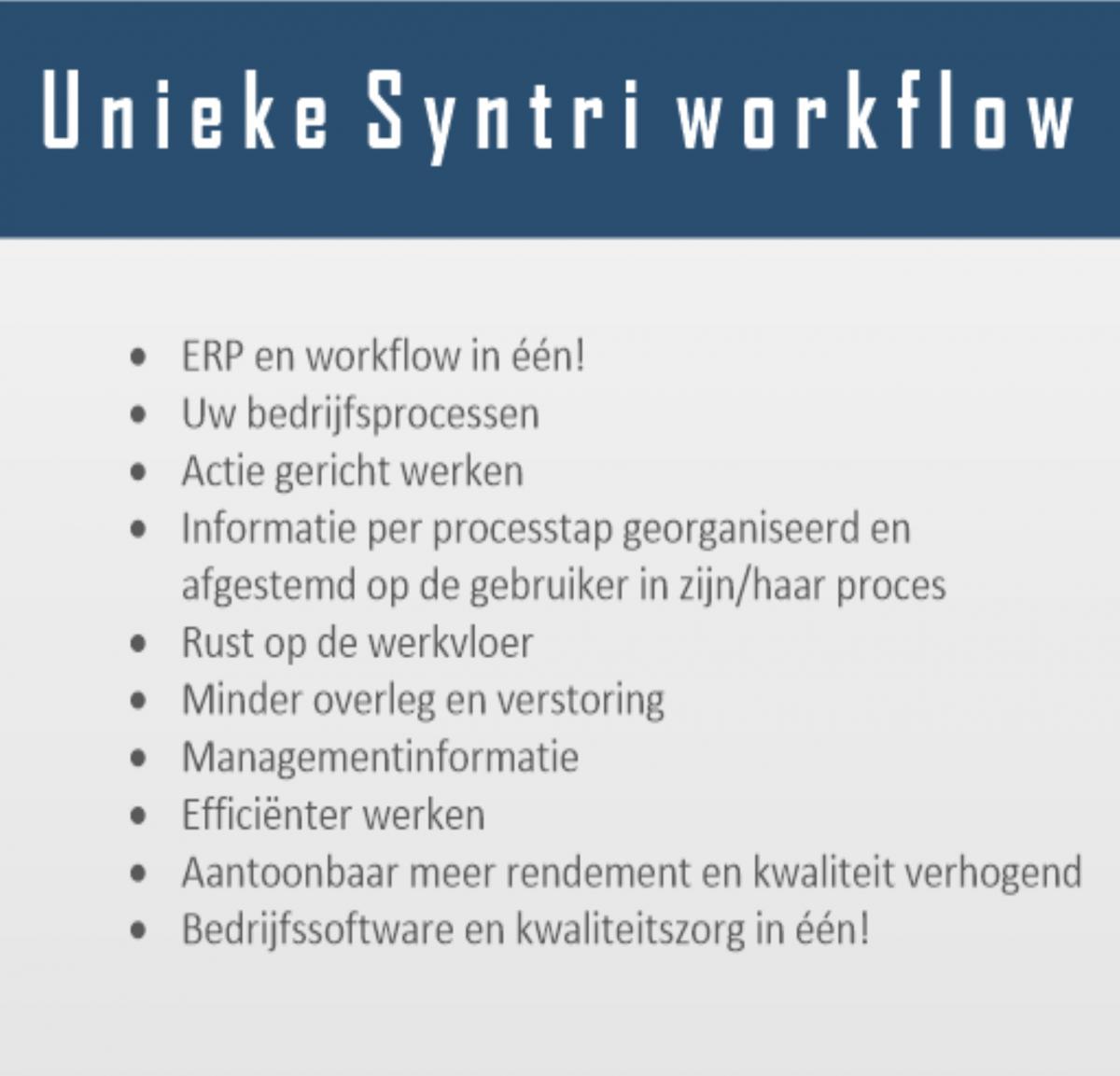 Workflow integratie Syntri